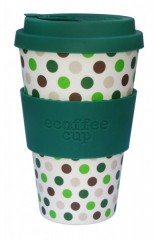 Green Polka Ecoffee lonček to-go